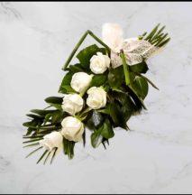 rózsás sírcsokor